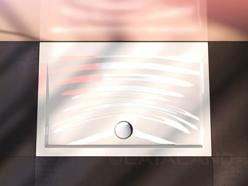Flush fitting ceramic shower tray IMPRONTA | Shower tray - CERAMICA CATALANO