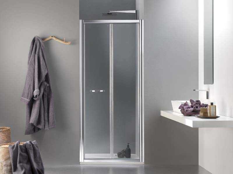 Niche glass shower cabin with folding door MORELIVE® - MEGIUS