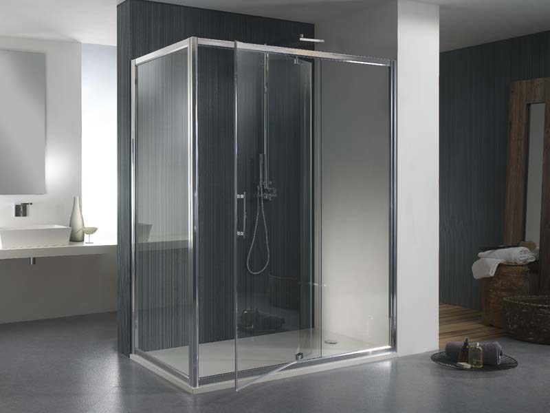Corner glass shower cabin MORE LIVE PVF - MEGIUS