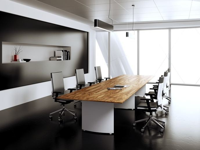 Design rectangular wooden meeting table CEO | Meeting table - MASCAGNI