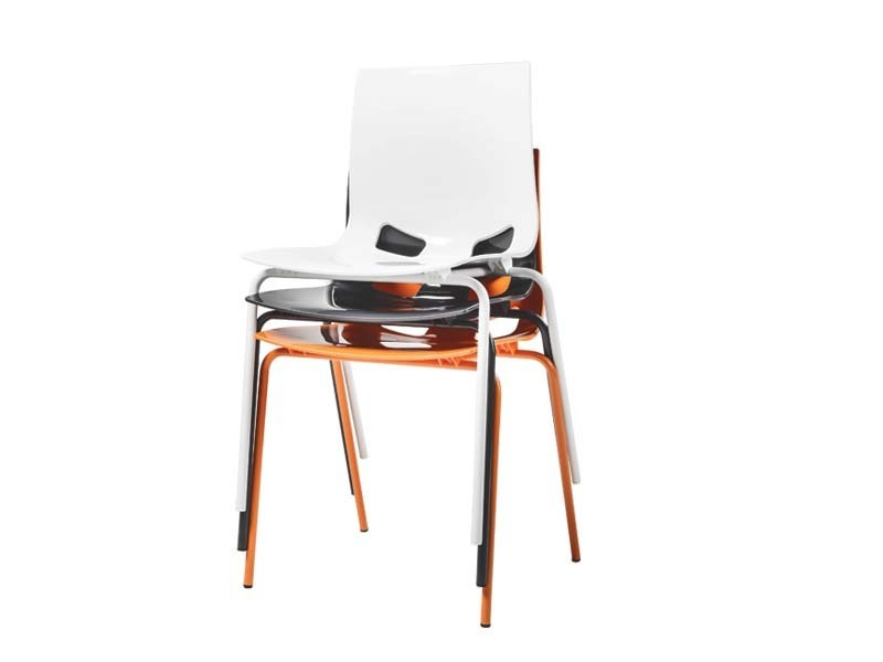 Stackable reception chair DESIDERIA | Stackable chair by MASCAGNI