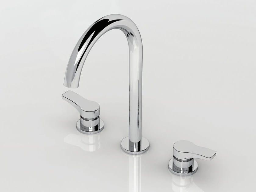 3 hole countertop washbasin tap AL/23 | 3 hole washbasin tap - ABOUTWATER
