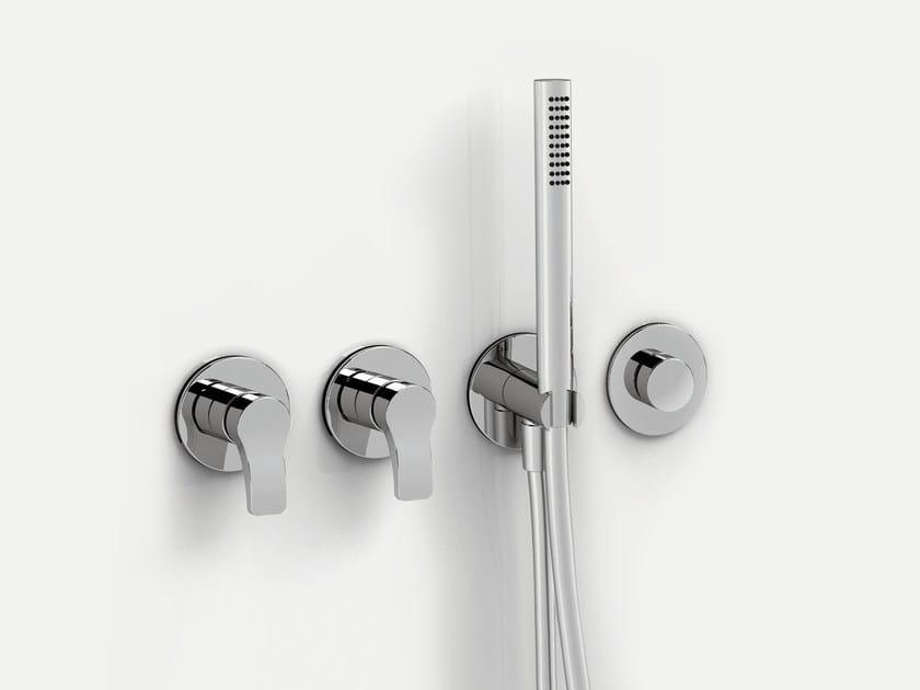 4 hole wall-mounted bathtub set with hand shower AL/23 | 4 hole bathtub set - ABOUTWATER