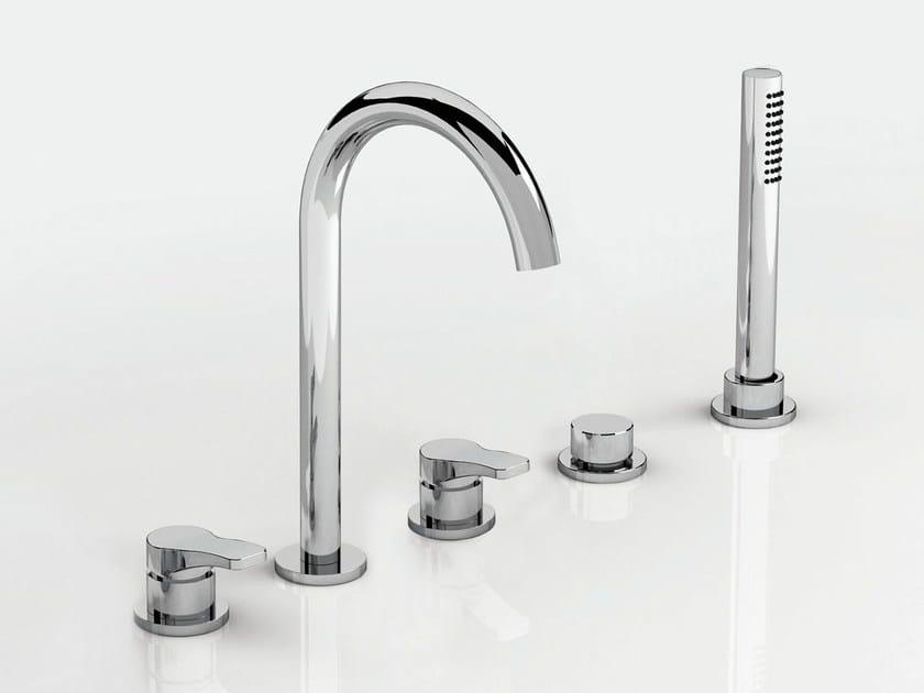 5 hole bathtub set with hand shower AL/23 | 5 hole bathtub set - ABOUTWATER