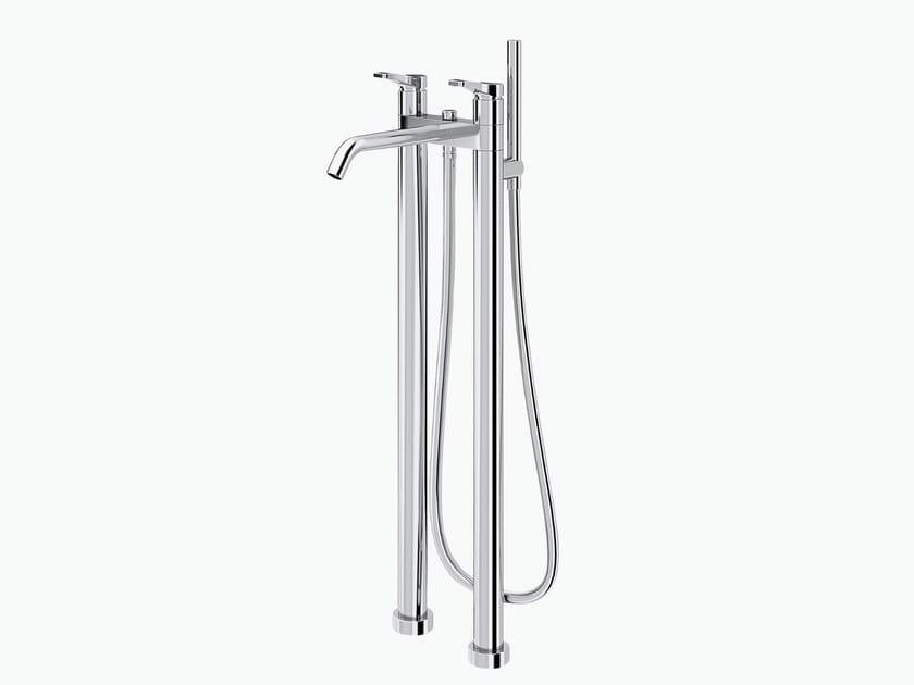 Floor standing bathtub tap with hand shower AL/23 | Floor standing bathtub tap - ABOUTWATER