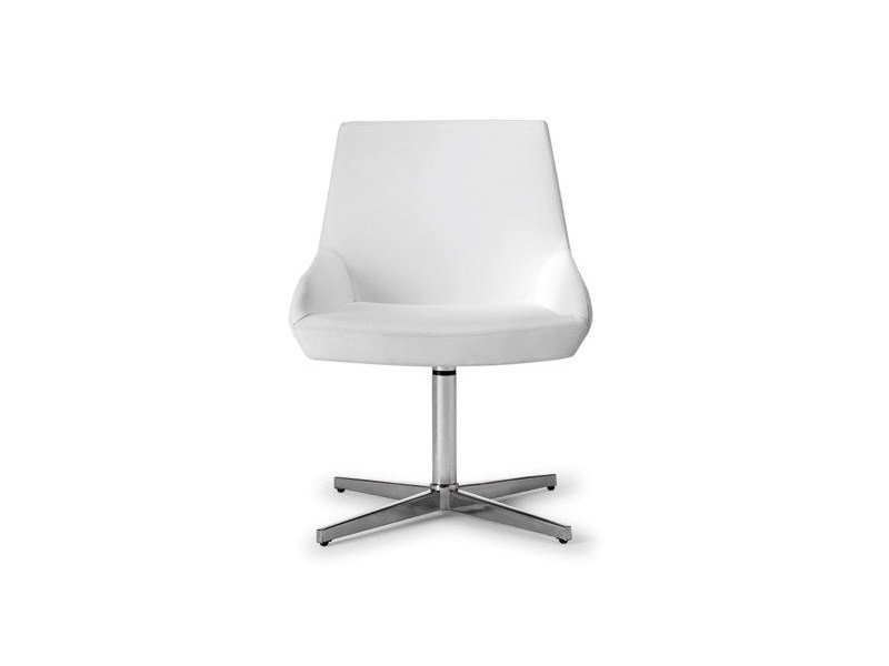 Upholstered easy chair with 4-spoke base CRYSTAL 057 - Tonon