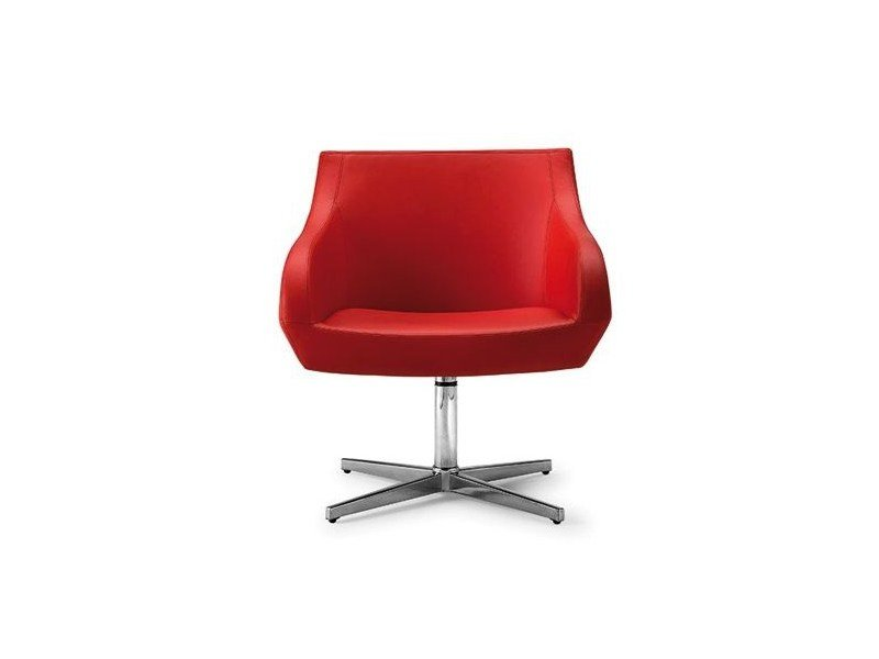 Upholstered easy chair with 4-spoke base CRYSTAL TOO 058 - Tonon