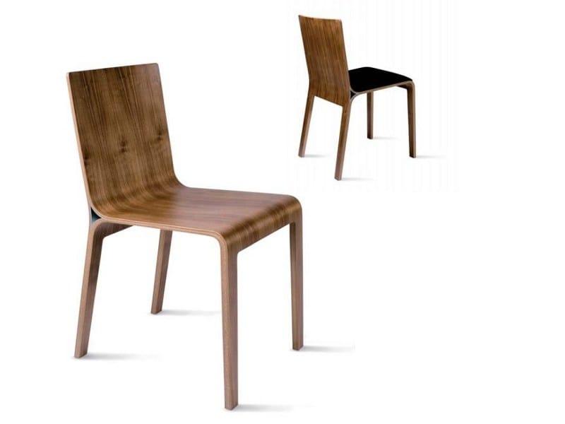 Wooden chair CHALLENGE 648 - Tonon
