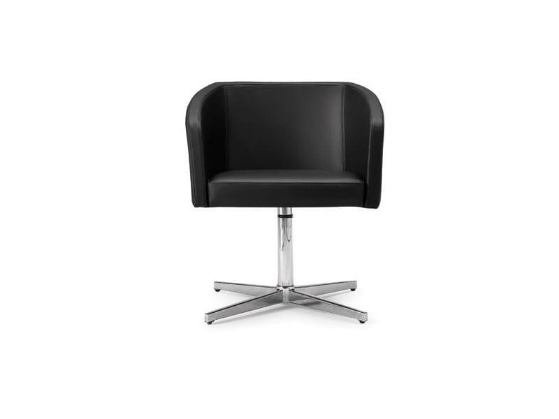 Swivel low lounge chair with 4-spoke base - 039.71