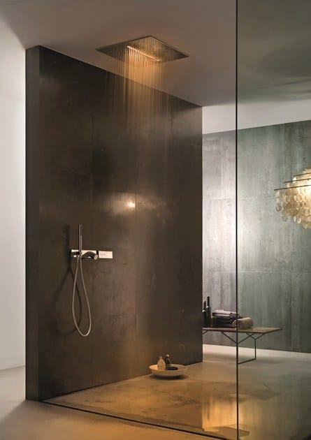 Soffione a soffitto con 2 getti acqua zone dream soffione fantini rubinetti - Soffione doccia a soffitto ...
