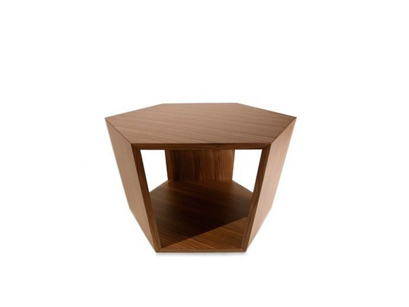 Design wooden coffee table with integrated magazine rack DIAMONDS 769 by Tonon