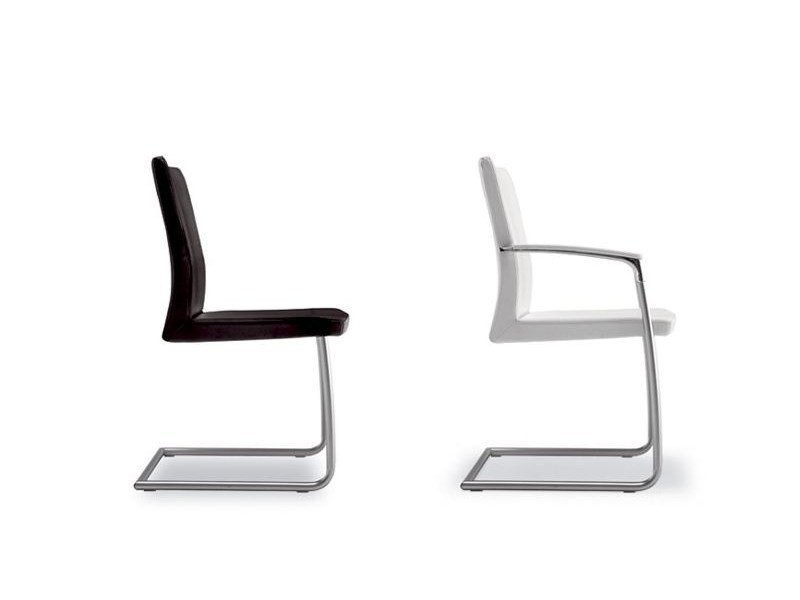 Cantilever aluminium chair with armrests SYMBOL 911 - Tonon