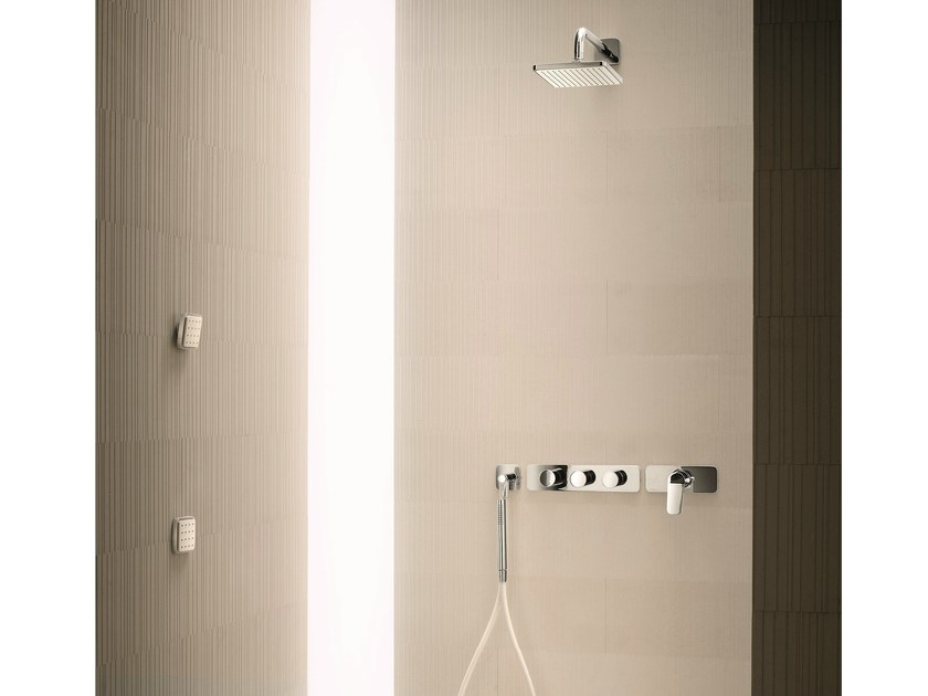 Thermostatic shower mixer with hand shower LEVANTE | Shower mixer with hand shower by Fantini Rubinetti