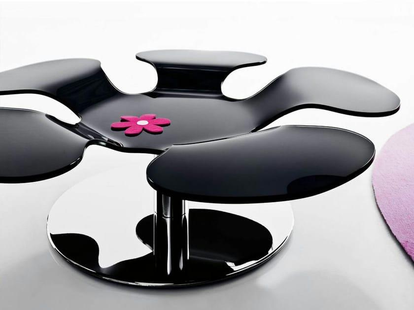 table basse pivotante en verre color flower italy dream design. Black Bedroom Furniture Sets. Home Design Ideas
