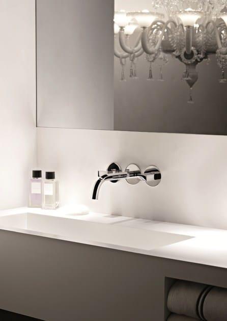 Rubinetto per lavabo a 3 fori a muro venezia rubinetto per lavabo a muro fantini rubinetti - Rubinetti a muro bagno ...