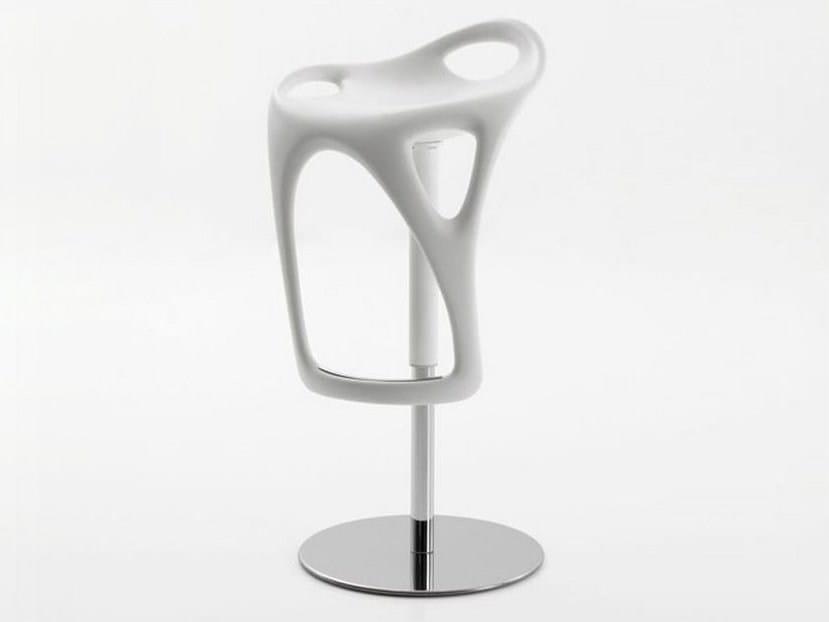 Height-adjustable swivel stool MAC | Swivel stool - ITALY DREAM DESIGN - Kallisté