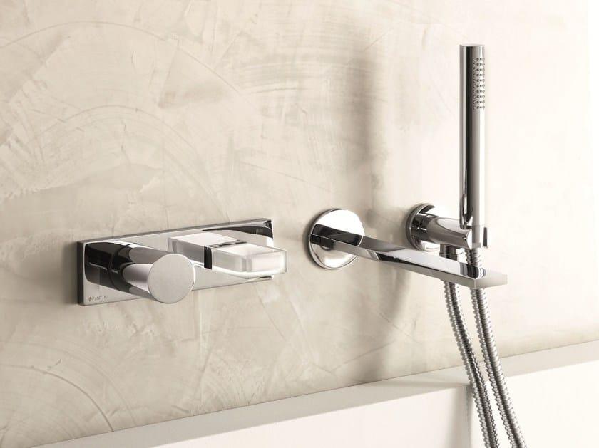 Wall-mounted bathtub mixer with hand shower VENEZIA IN | Bathtub mixer - Fantini Rubinetti