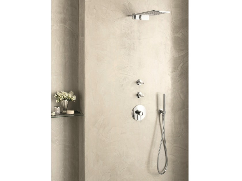3 hole thermostatic shower mixer with hand shower VENEZIA IN | Thermostatic shower mixer - Fantini Rubinetti