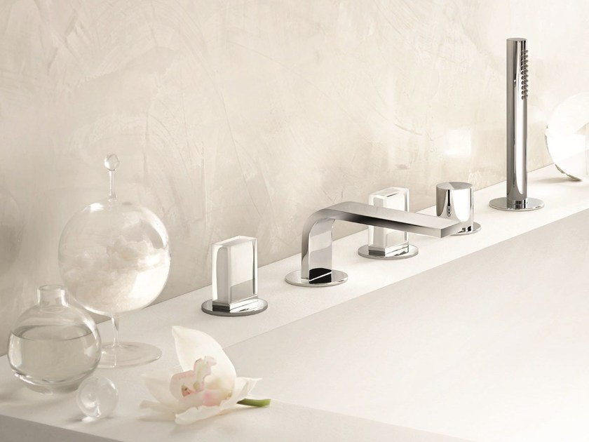 5 hole bathtub set with diverter VENEZIA IN | Bathtub set by Fantini Rubinetti