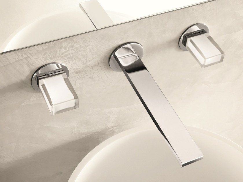 3 hole wall-mounted washbasin tap VENEZIA IN | Wall-mounted washbasin tap by Fantini Rubinetti