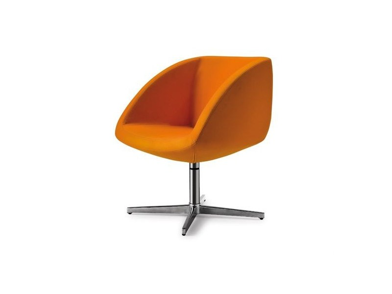 Swivel easy chair with 4-spoke base JOIN ME 056 - Tonon