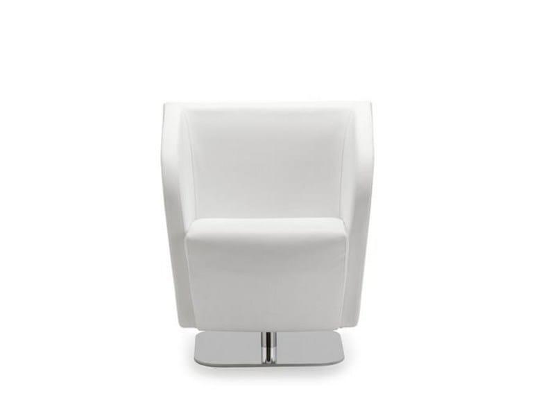 Swivel polyurethane armchair LEAF 054 - Tonon