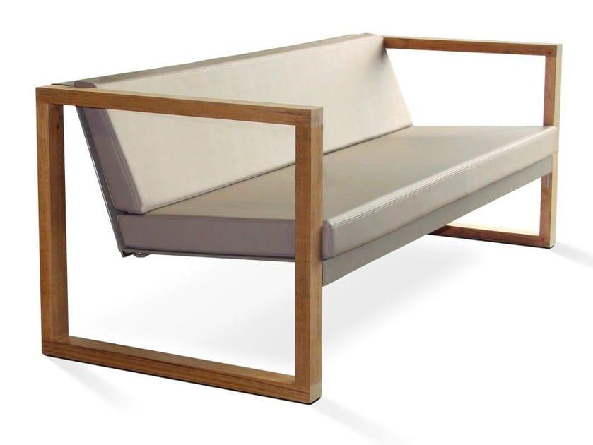 Modular 3 Seater Batyline Garden Sofa Banca Lounge Teak By Fueradentro Design Hendrik Steenbakkers