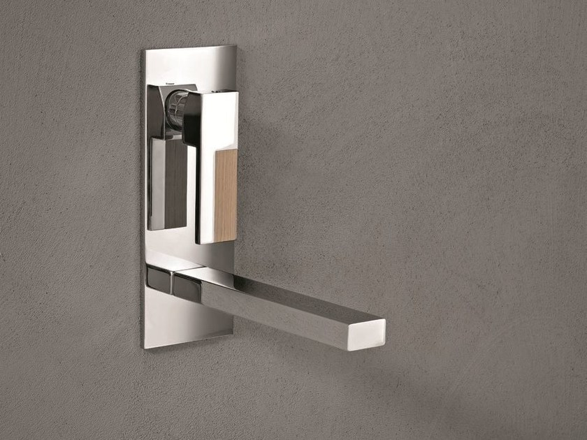 Wall-mounted washbasin mixer with plate AR/38 | Wall-mounted washbasin mixer - Fantini Rubinetti
