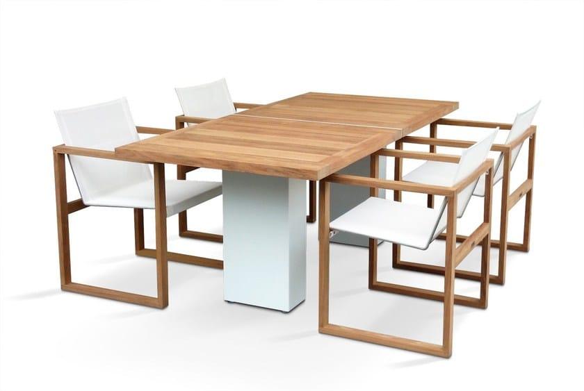 Doble tisch aus teakholz by fueradentro - Einrichtung aus italien klassischen stil ...