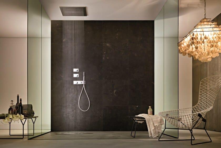 Soffione a soffitto con 2 getti acqua zone soffione fantini rubinetti - Soffione doccia soffitto ...