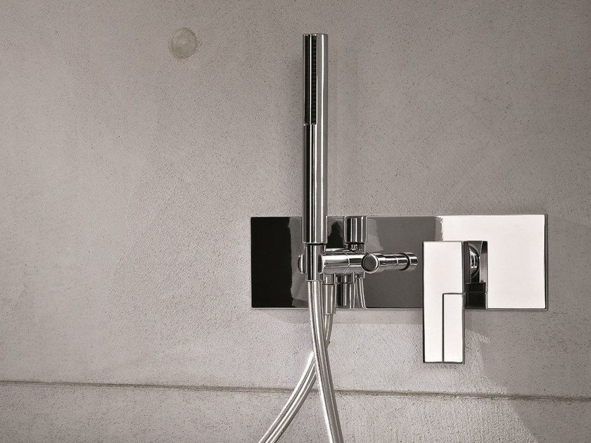 Wall-mounted bathtub mixer with diverter AR/38 | Bathtub mixer with diverter - Fantini Rubinetti