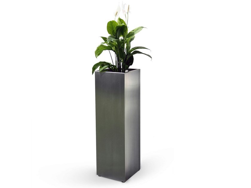 High stainless steel planter MACETERO - FueraDentro