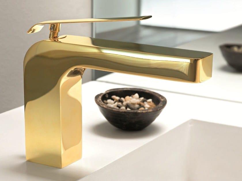 Countertop 1 hole washbasin mixer DOLCE   Gold leaf washbasin mixer - Fantini Rubinetti