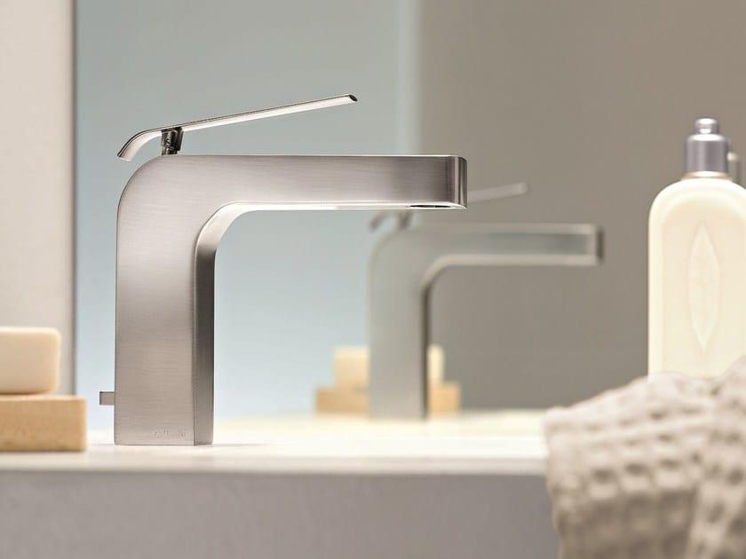 Countertop 1 hole washbasin mixer DOLCE | Washbasin mixer with brushed finishing - Fantini Rubinetti