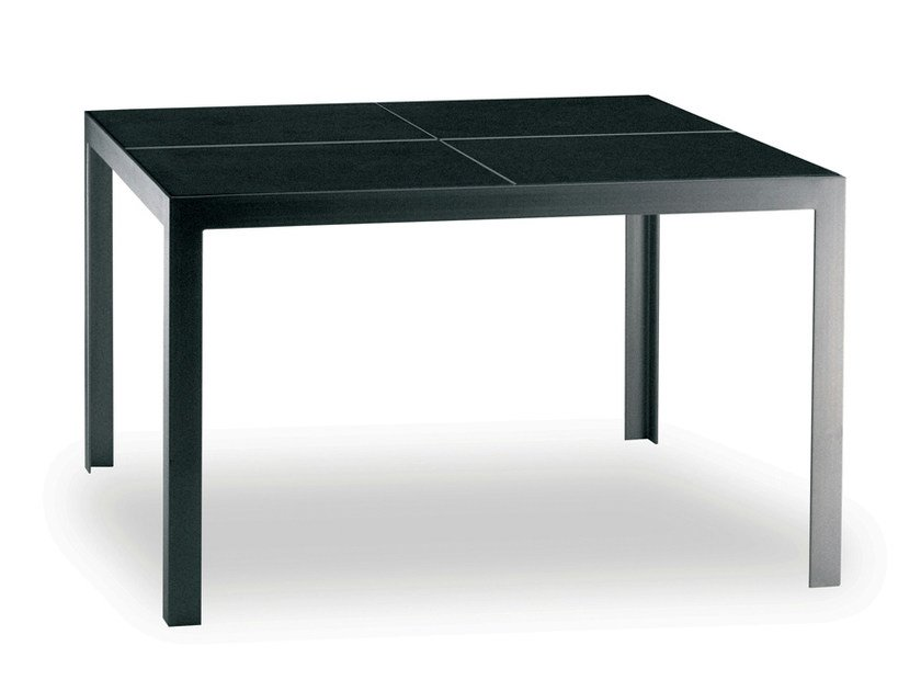 Square stainless steel garden table NIMIO 140 | Table - FueraDentro