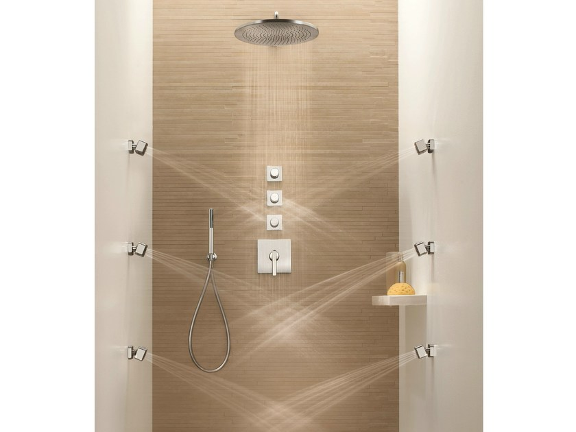 4 hole thermostatic shower mixer DOLCE | Thermostatic shower mixer - Fantini Rubinetti