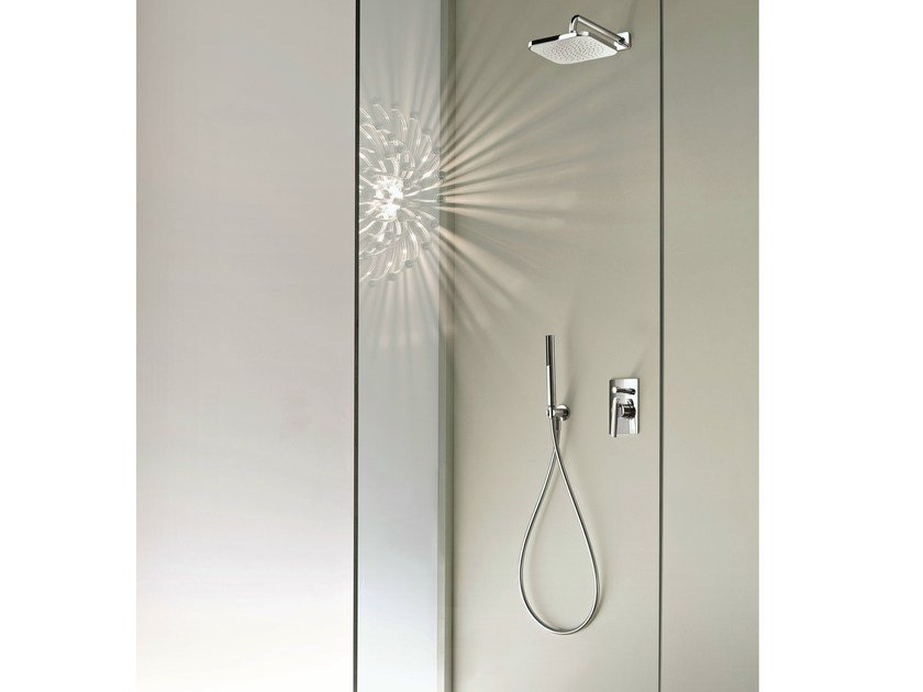 Shower mixer with diverter with hand shower DOLCE | Shower mixer with diverter - Fantini Rubinetti