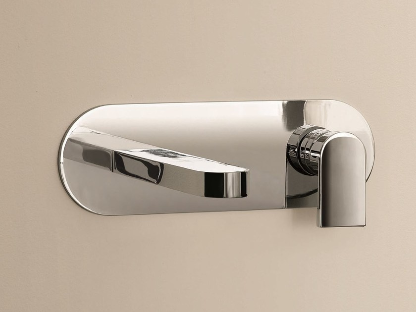 Wall-mounted washbasin mixer with plate MARE | Wall-mounted washbasin mixer by Fantini Rubinetti
