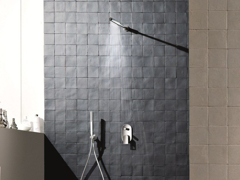 Shower mixer with diverter with hand shower MARE | Shower mixer with diverter by Fantini Rubinetti