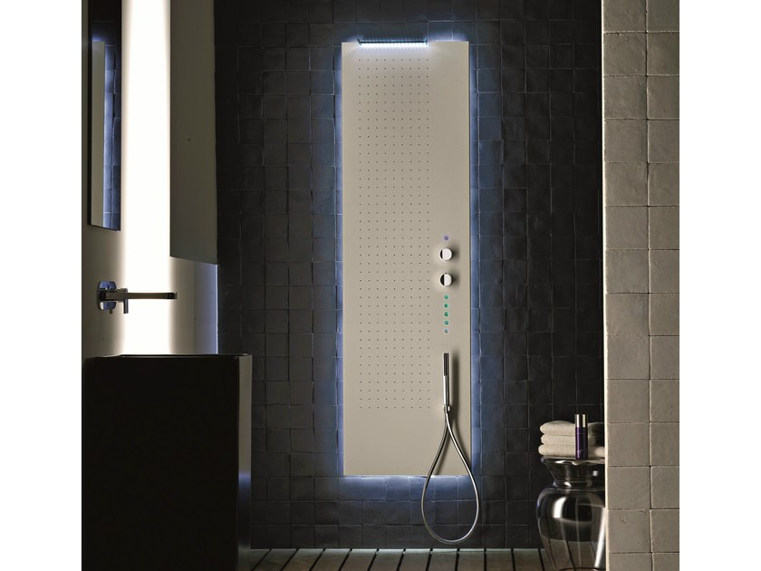 Multifunction thermostatic shower panel MARE | Multifunction shower panel - Fantini Rubinetti