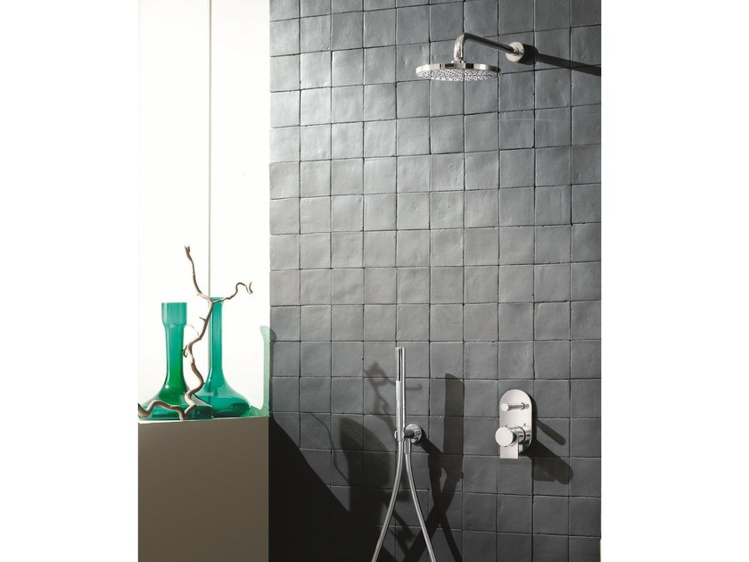 Thermostatic shower mixer with diverter with hand shower MARE | Thermostatic shower mixer with diverter by Fantini Rubinetti