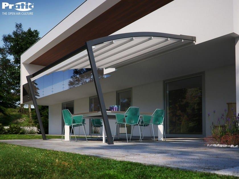 Wall-mounted pergola with sliding cover TECNIC RAM - PRATIC F.lli ORIOLI