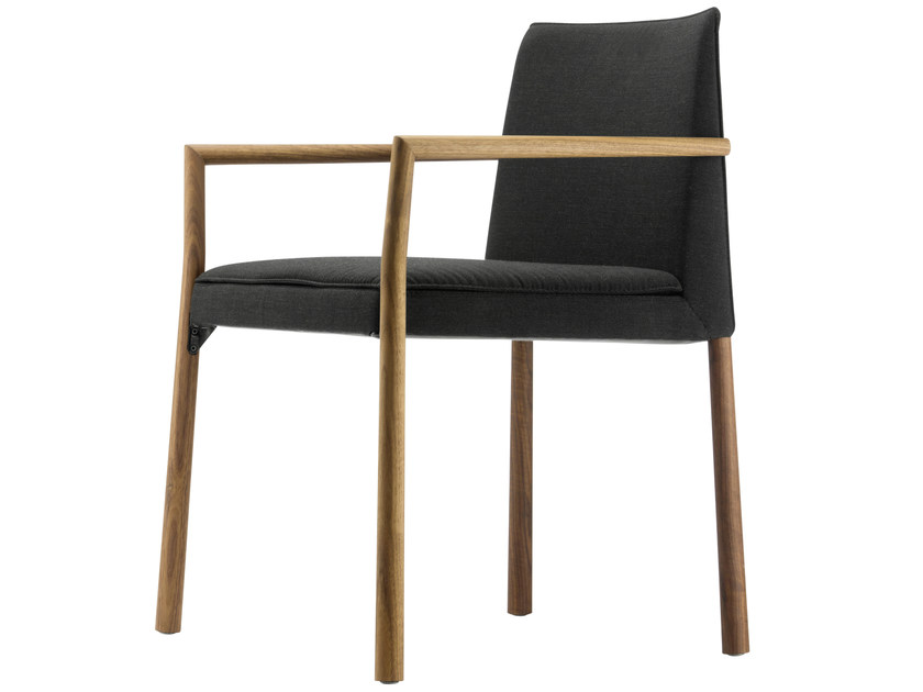 Upholstered chair with armrests 192 PF - THONET