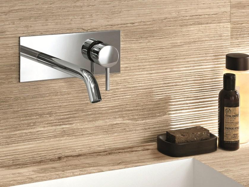 Wall-mounted washbasin mixer with plate CAFÈ | Washbasin mixer with plate - Fantini Rubinetti