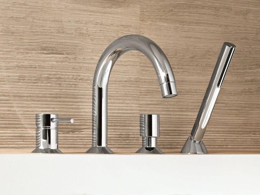 4 hole bathtub set with hand shower CAFÈ | Bathtub set by Fantini Rubinetti