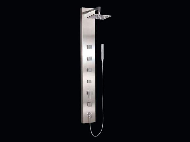 Stainless steel shower panel CALPE by Aquassent