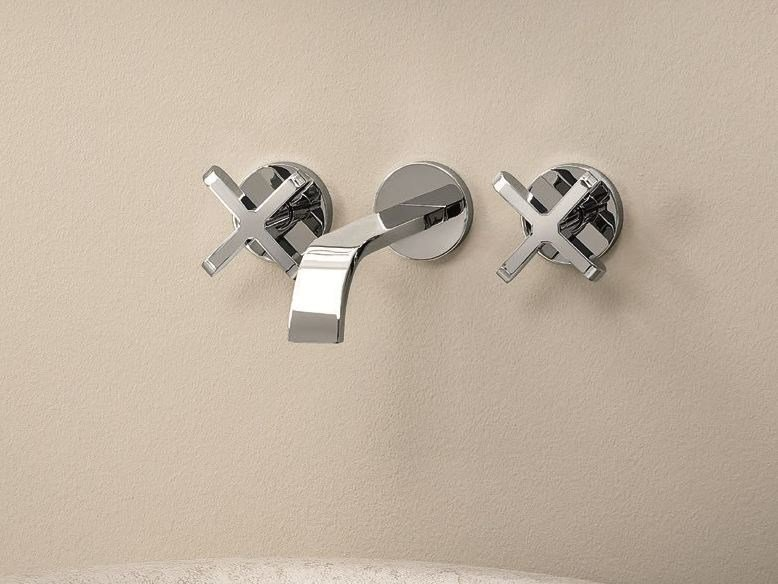 3 hole wall-mounted washbasin tap RIVIERA | Wall-mounted washbasin tap by Fantini Rubinetti