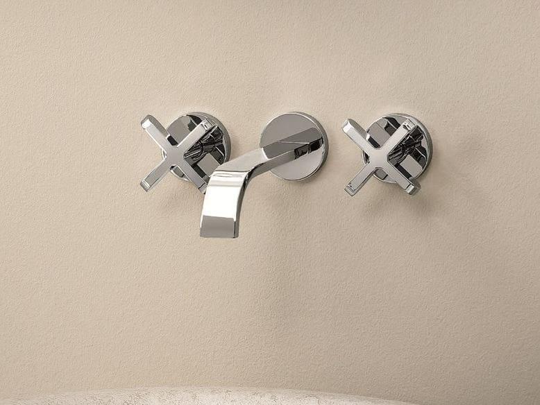 3 hole wall-mounted washbasin tap RIVIERA | Wall-mounted washbasin tap - Fantini Rubinetti