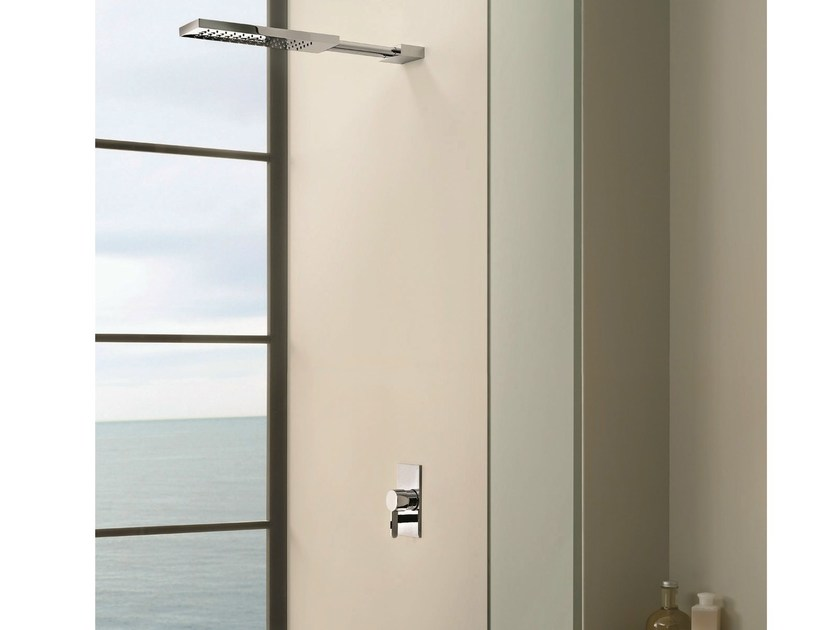 Single handle shower mixer with overhead shower RIVIERA | Single handle shower mixer - Fantini Rubinetti