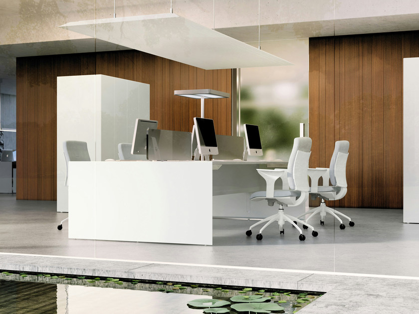 Rectangular workstation desk QUARANTA5 | Workstation desk by FANTONI